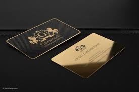 free gold business card template with print service rockdesign