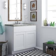 Bathroom Bathroom Vanities by Altra 36 Inch White Shaker Style Bath Vanity Cabinet Furniture
