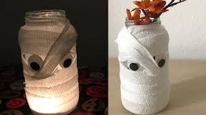 diy wrapped mummy jar halloween decorations u0026 crafts youtube