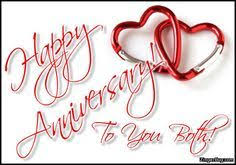 Happy Anniversary Meme - happy anniversary to you both linked hearts glitter graphic