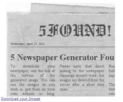 Newspaper Meme Generator - start early and write several drafts about newpaper generator