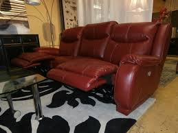 red leather electric reclining sofa purobrand co