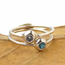 stacking birthstone rings set of 2 pebble birthstone stacking rings sterling silver rito