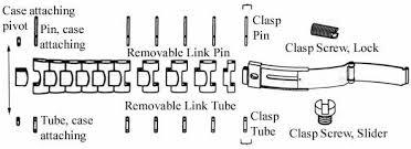 omega link bracelet images Pins tubes screws for omega seamaster speedmaster bracelets jpg