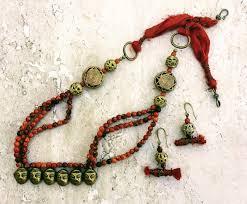gold vintage statement necklace images Vintage naga brass head trophy necklace tribal statement necklace JPG