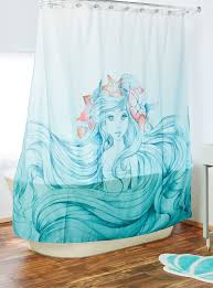 Disney Shower Curtains by Impressive Design Mermaid Shower Curtain Incredible Ideas Etsy