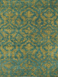 sonja hand knotted golden u0026 peacock green rug temple u0026 webster