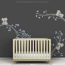 Boy Nursery Wall Decals Blue Baby Boy Wall Decal Baby Nursery Tree Wall Sticker Decor