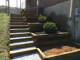 Tiered Backyard Landscaping Ideas Diy Side Yard Landscaping Idea Steps And Tiers