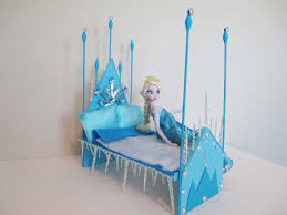 how to make a elsa doll bed tutorial disney frozen youtube