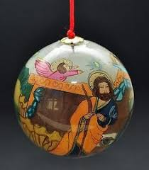 image result for reverse hand painted christmas ornaments