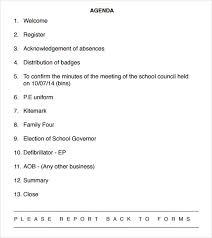 templates for business agenda agenda sle in pdf kick off meeting agenda template kick off