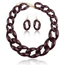 colored chain link necklace images Buy fashion jewelry choker necklace plastic chain jpg