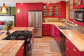 kitchen red red kitchen cabinets empowering color exist decor