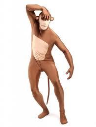 halloween morph costumes aliexpress com buy brown and flesh monkey spandex zentai