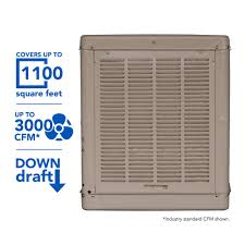 champion cooler 3000 cfm down draft roof evaporative cooler for