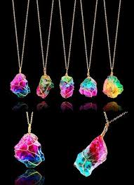 crystal necklace store images Rainbow crystal necklace blue fire store jpg