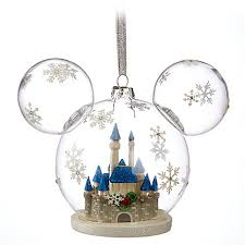 disney ornament mickey mouse fantasyland castle