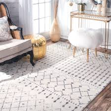 7 X 9 Outdoor Rug The Curated Nomad Ashbury Beaded Moroccan Trellis Ivory Rug 6 7 X