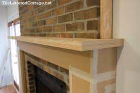 Fireplace Refacing Kits by Fireplace Mantel How To Over Brick Buidling Projects