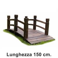 di legno per giardino ponte in legno per giardino e laghetto artificiale lunghezza 150 cm