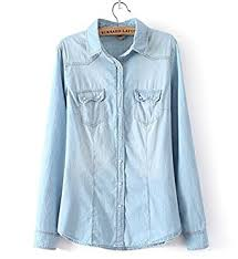 chambray blouse dirithso womens chambray shirt top denim shirts and blouses