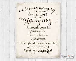 in loving memory wedding wedding memorial sign wedding memory sign wedding remembrance