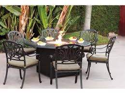 interesting design fire pit dining table bold agio firepit table