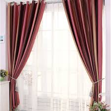 Burgundy Curtains For Living Room Simple Burgundy Polyester Blackout And Lined Curtains Buy