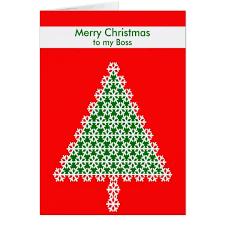 boss christmas card christmas tree red zazzle