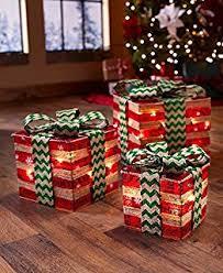 christmas present light boxes set of 9 christmas led light up gift box