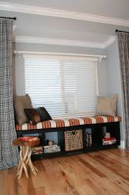 living room excellent bay window seat with black storage and
