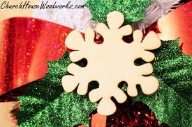 wooden snowflake christmas ornaments set of 25 for sale church