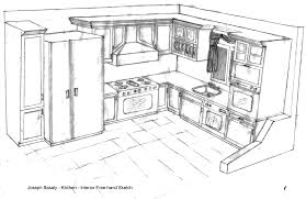 Sketch Kitchen Design by Kitchen Drawing Gallery Of Kitchen Furniture Sketch In Line Style