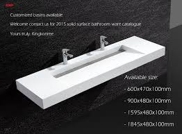 One Piece Bathroom Vanity Tops by Kkr Solid Surface One Pieces Double Bowl Bathroom Vanity Sink With