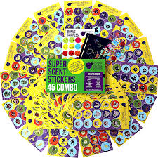 amazon com 45 sheet scratch and sniff stickers for kids