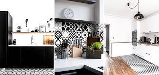 cuisine blanc et noir carrelage cuisine noir et blanc carrelage cuisine noir et blanc