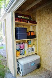 building a storage shed part ii shed organization rambling