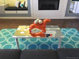 ikea mirrored coffee table hack