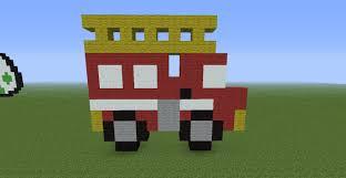 minecraft fire truck minecraft fire pixel art pictures to pin on pinterest pinsdaddy