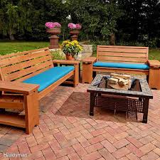 wood patio table plans 15 awesome plans for diy patio furniture family handyman