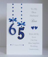 65 wedding anniversary 65 wedding anniversary cards ebay