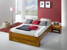 chambre en merisier cadre de lit ines avec tête de lit merisier meubles minet
