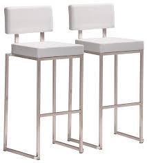 stainless steel bar stools with backs stunning white bar stools with backs ida chrome plated metal base