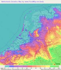 netherlands map netherlands elevation and elevation maps of cities topographic