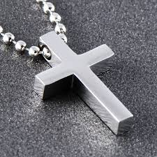 stainless cross necklace images Stainless steel small cross pendant necklace p0354 jpg