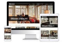 home remodeling website design knight construction design inc minneapolis web design portfolio