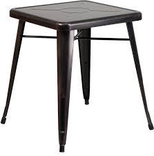 B Q Bistro Chairs Flash Furniture Ch 31330 29 Bq Gg 23 75 U0027 U0027 Square Black Antique