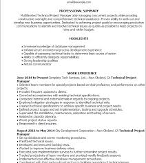 Seek Resume Database Innovation Ideas Technical Project Manager Resume 5 Professional