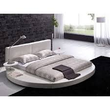 king size round bed with white leather from hearts attic